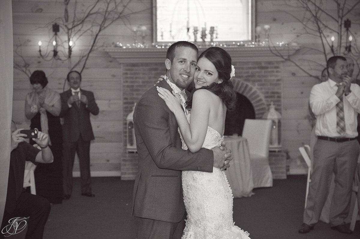 adorable bride and groom first dance photo
