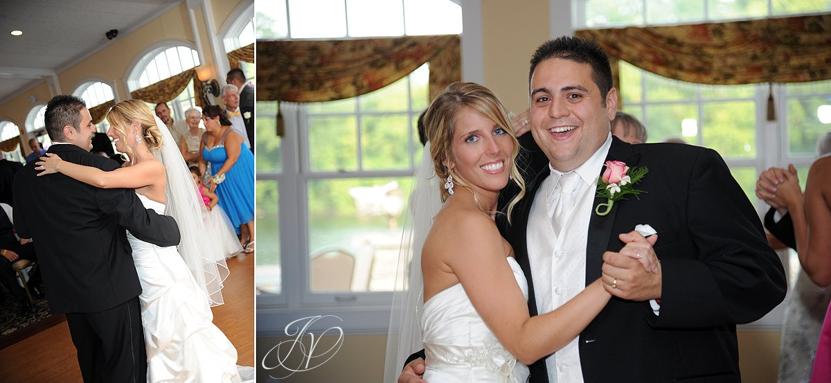 first dance photo, Schenectady Wedding Photographer, reception detail photos, Waters Edge Lighthouse