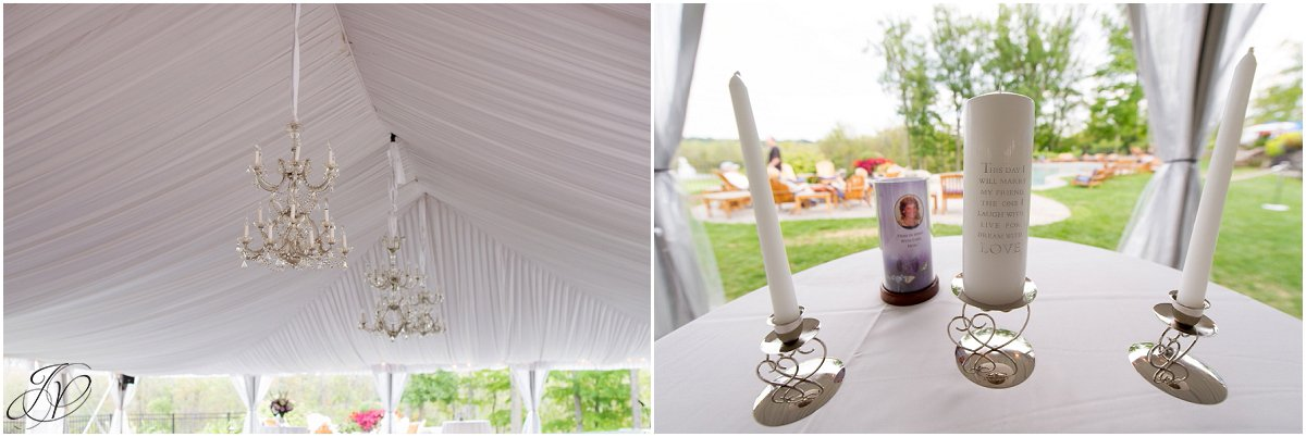 outside wedding ceremony details white tent saratoga national