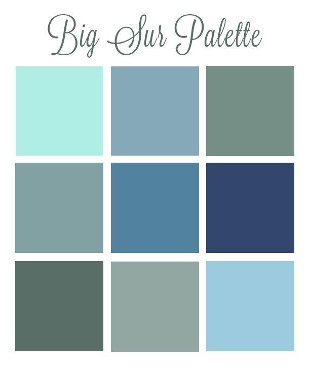Big Sur My Personal Color Palette Pet Photography Of