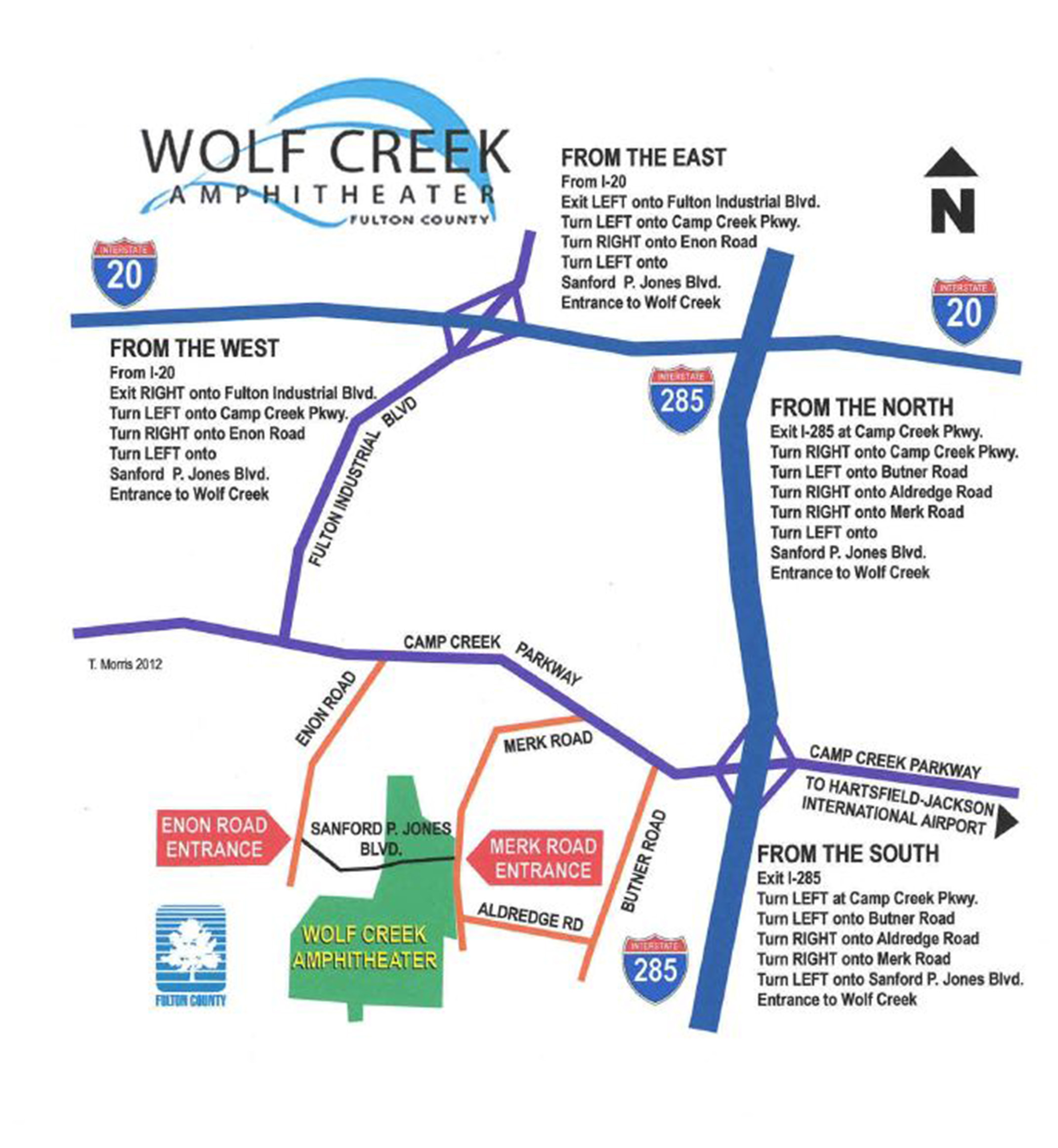 Map Directions Wolf Creek Amphitheater