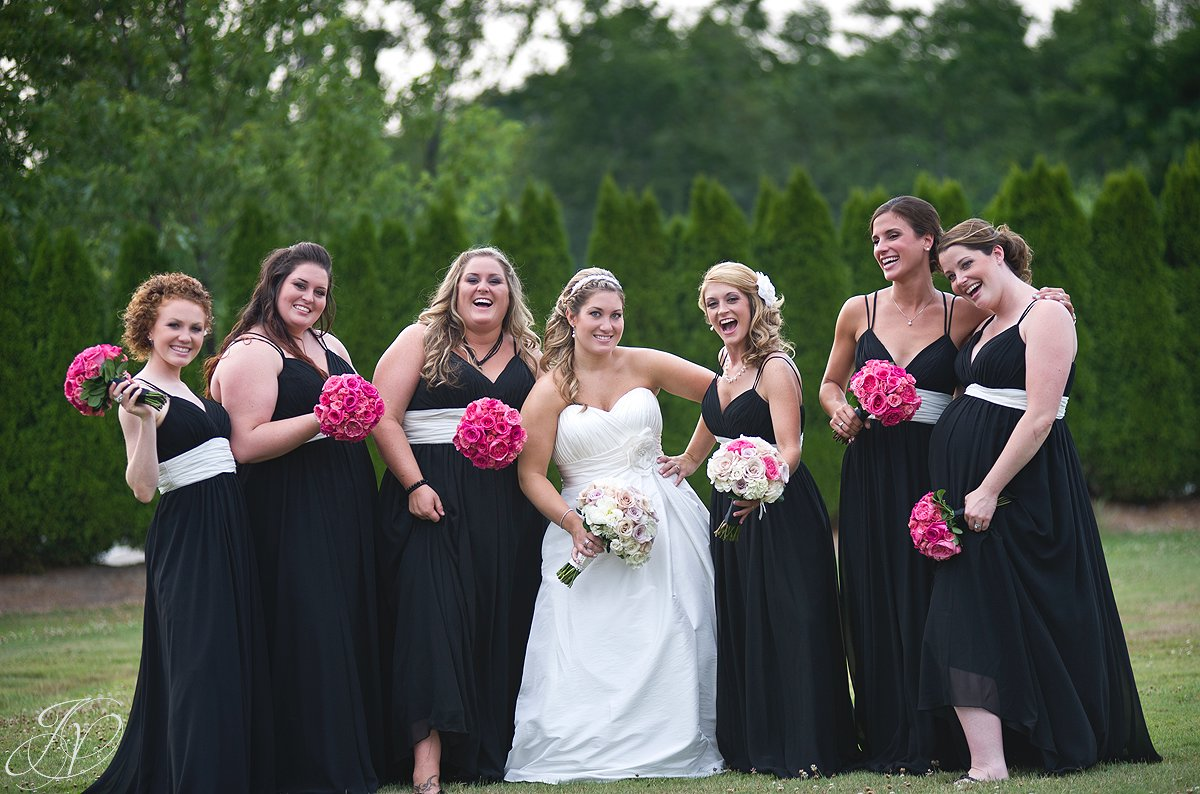 Saratoga Wedding Photographer, Mohawk River Country Club & Chateau, bridal photo, bridal party photos, fun bridal party