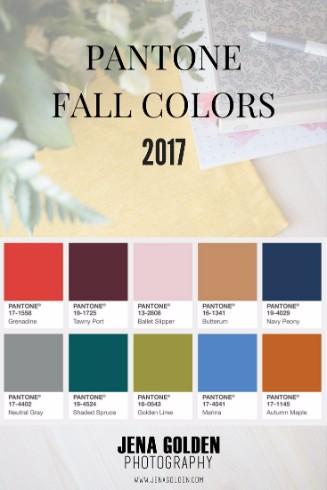 Pantone Fall Colors 2017 Jena Golden Photography