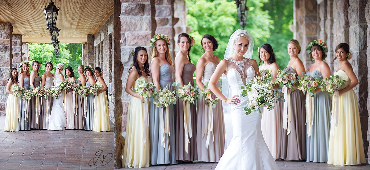 bride and bridesmaid wedding photos inn at erlowest