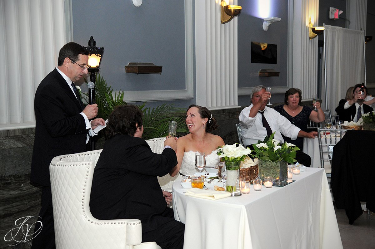 wedding speech, funny wedding speech, Schenectady Wedding Photographer, Key Hall Proctors reception