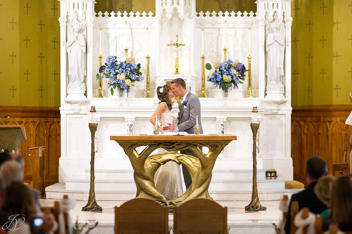 first kiss wedding ceremony church lake placid