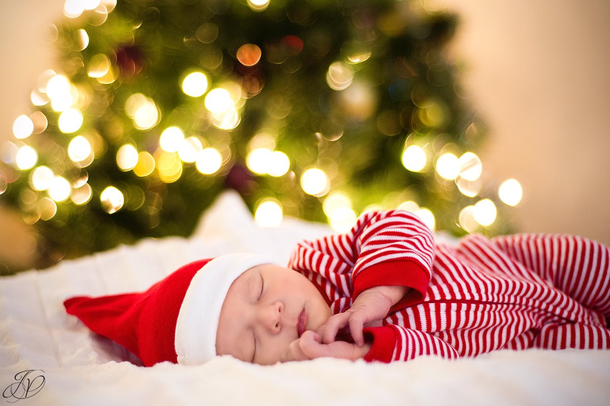 sweet holiday newborn baby girl