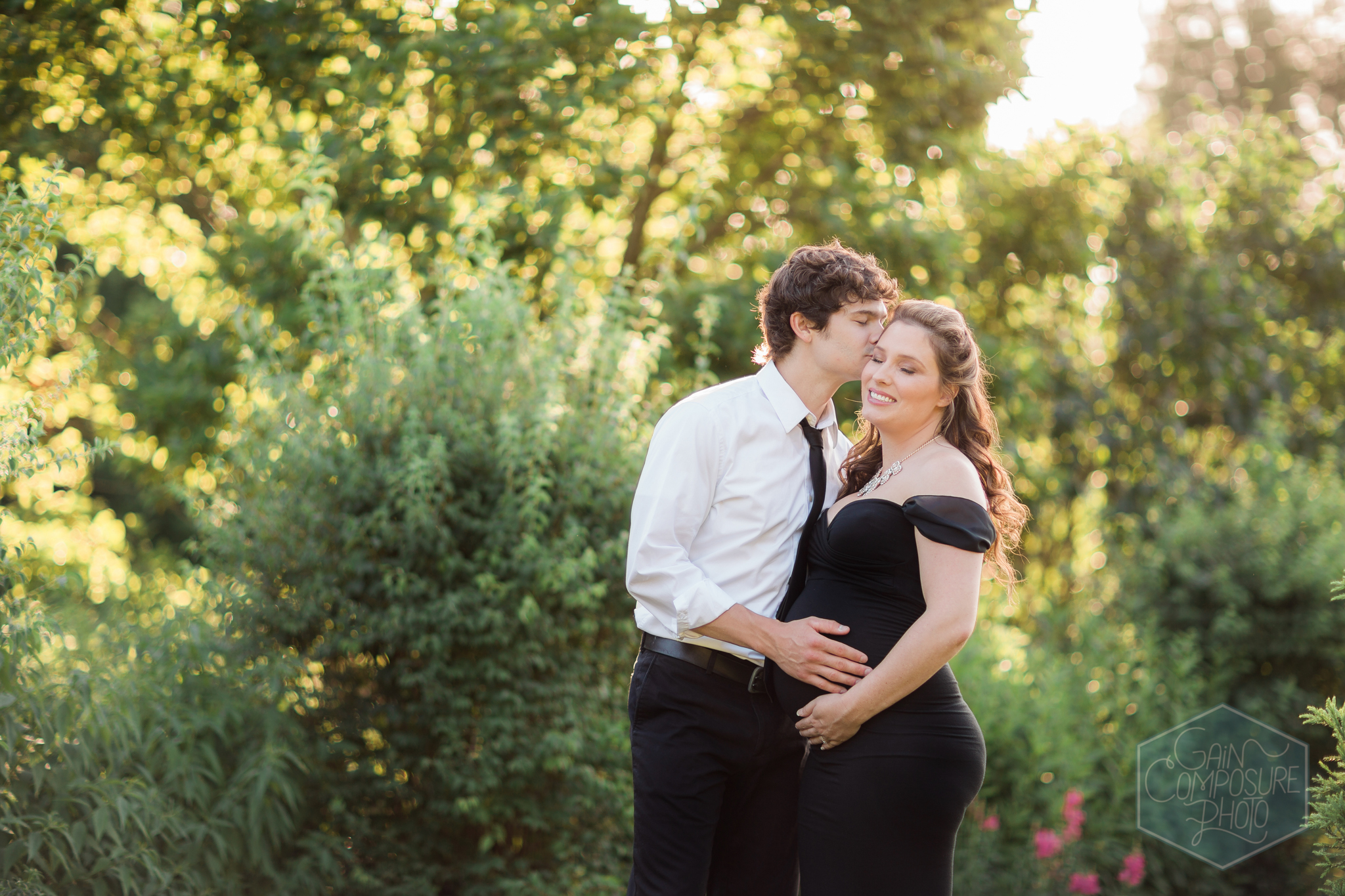 Emily and Charles McCall at Reynolda Gardens. © Gain Composure Photography, Greensboro maternity photographer