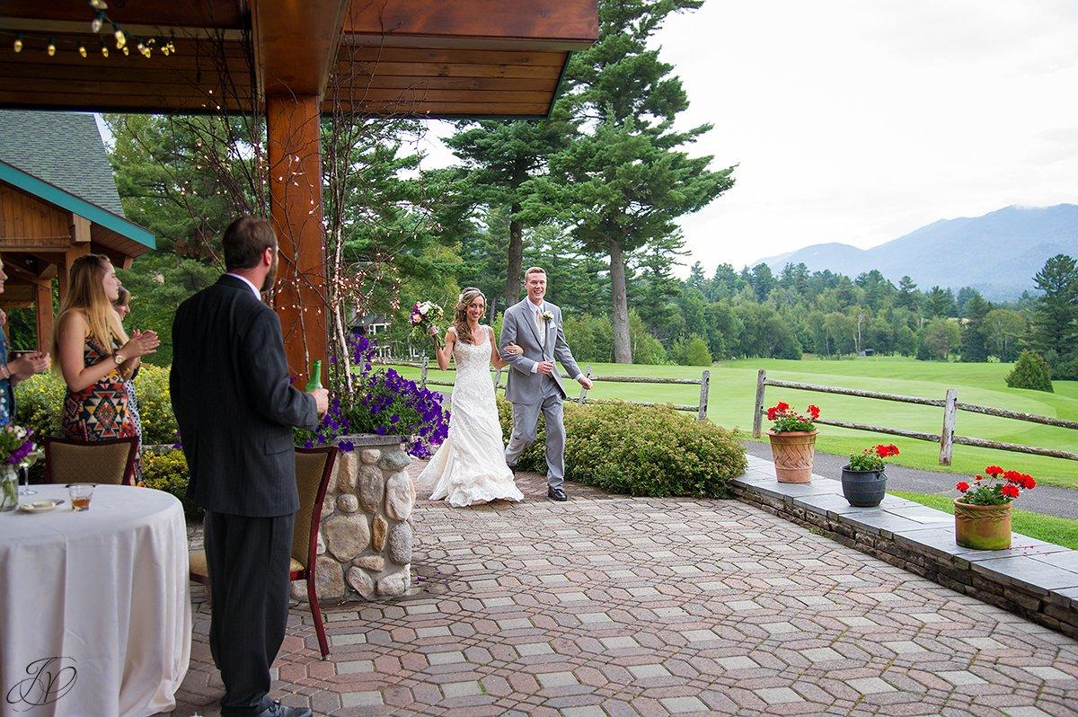 bride and groom reception introduction lake placid golf club