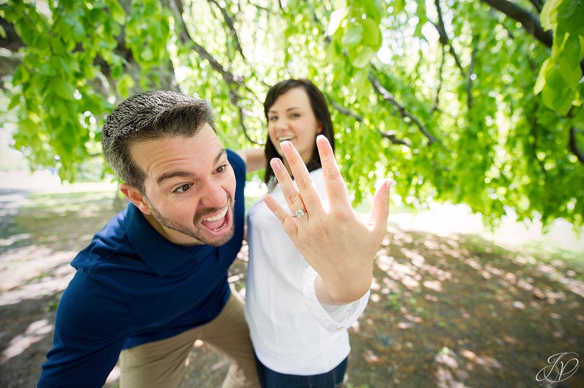 funny engagement ring photo
