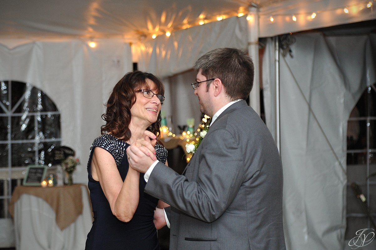 fun first dance moment of groom and mother