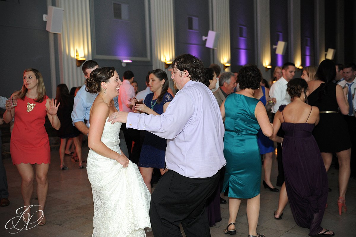 bride and groom dancing candid, fun reception candid photos, Schenectady Wedding Photographer, Key Hall Proctors reception