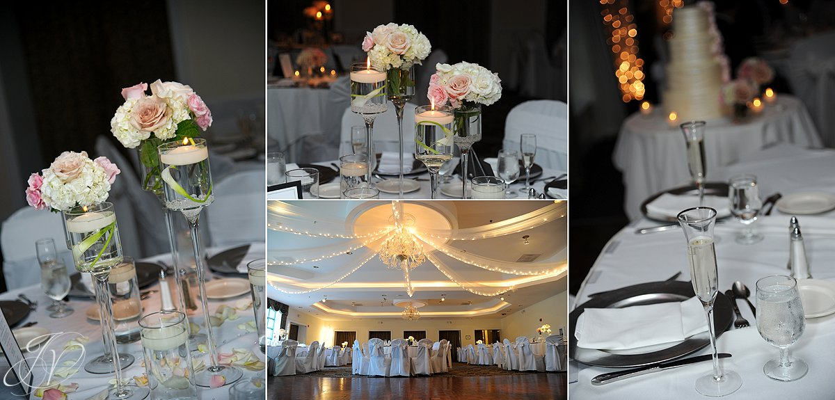 Mohawk River Country Club & Chateau, Saratoga Wedding Photographer, reception photography, reception detail photo
