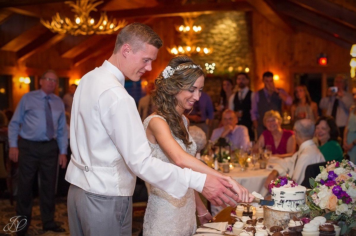 romantic cake cutting lake placid golf club