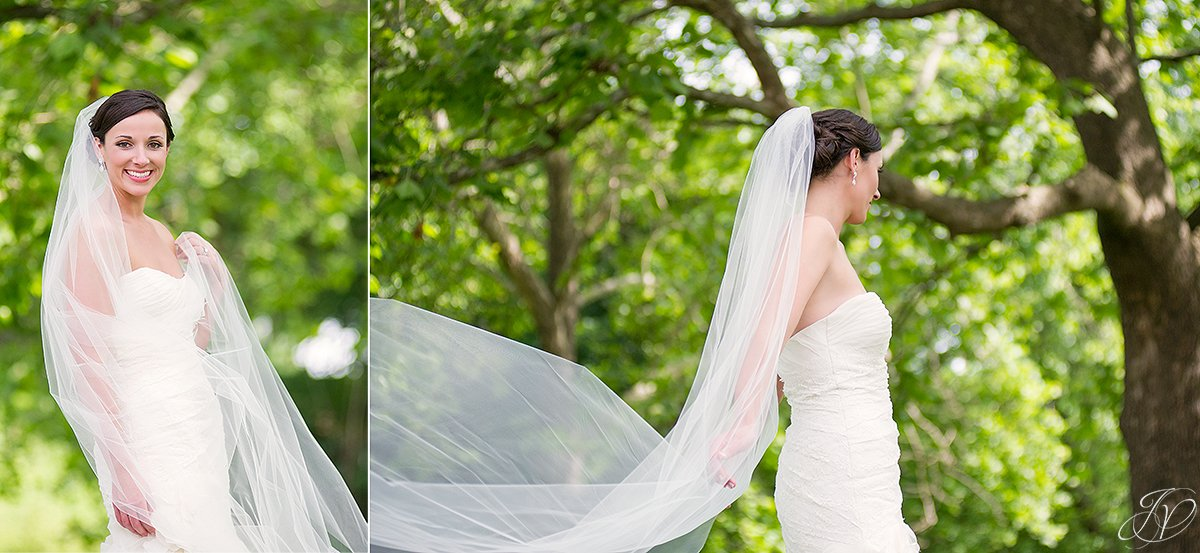 gorgeous photos of bride with floor length veil
