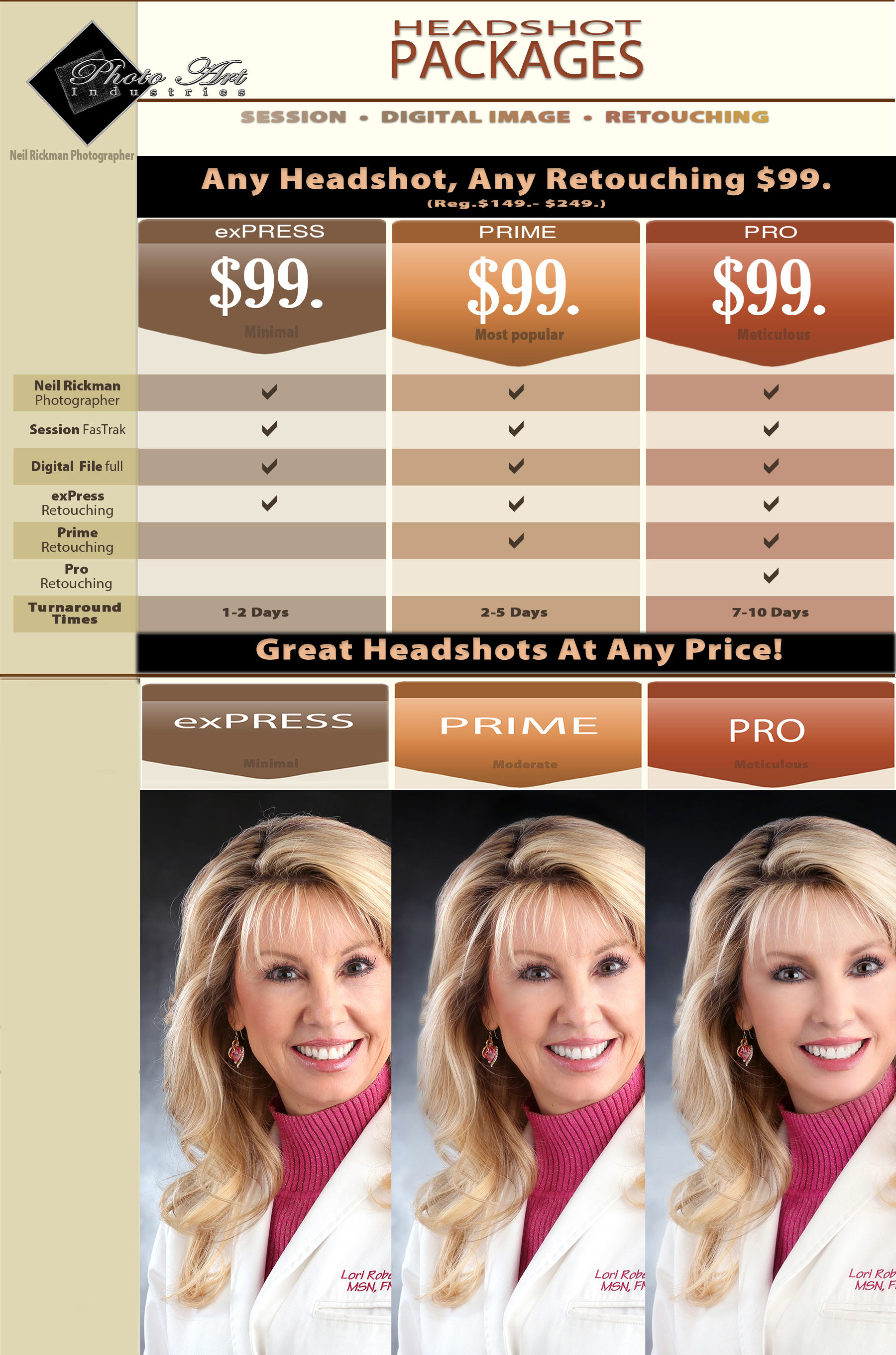 Headshot Pricing & Packages
