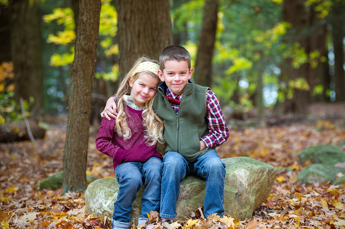 adorable fall photo of brother and sister