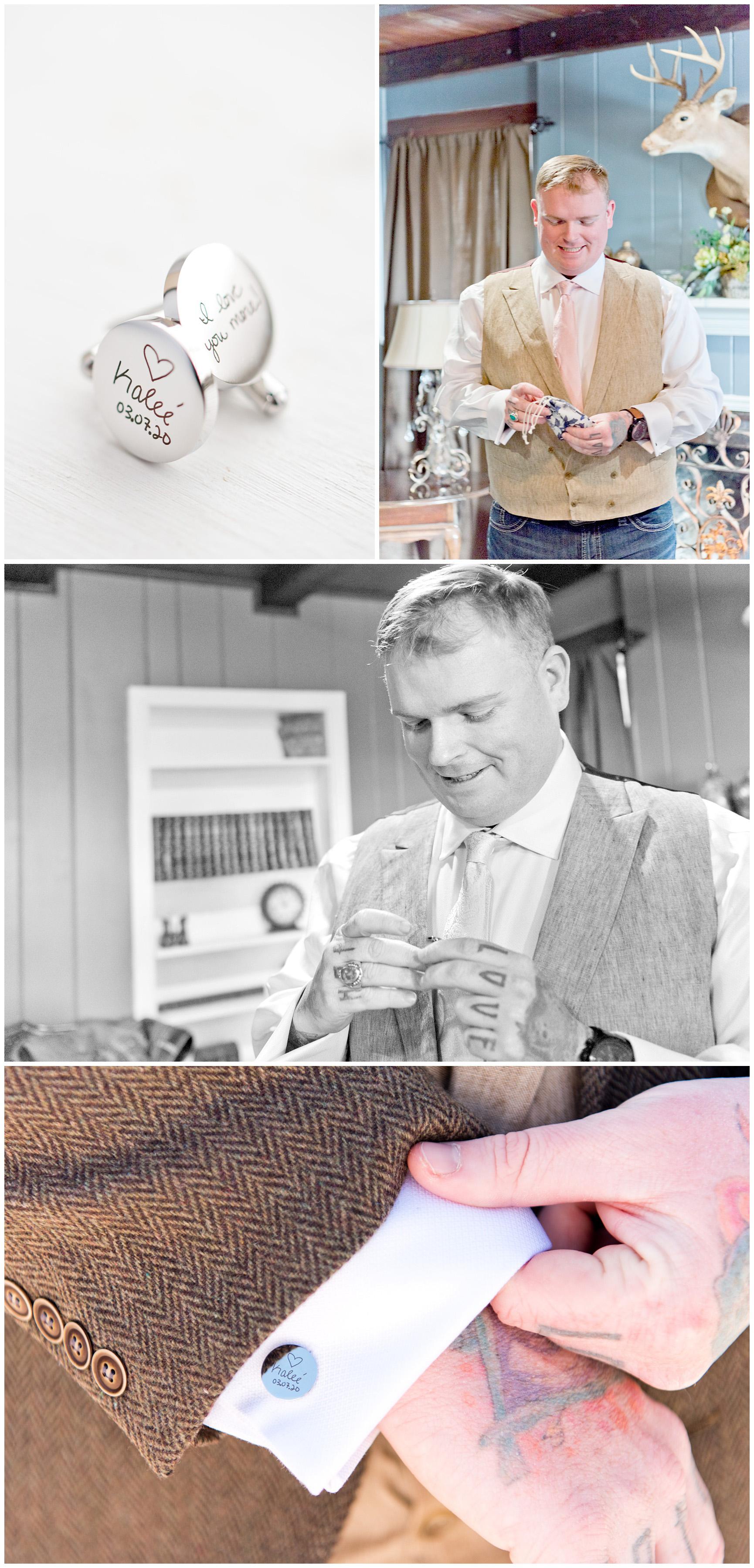 Groom Wedding Cufflinks Fort Worth Texas