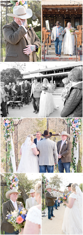 Bride Walking Down the Aisle at Hidden Gardens Venue Fort Worth