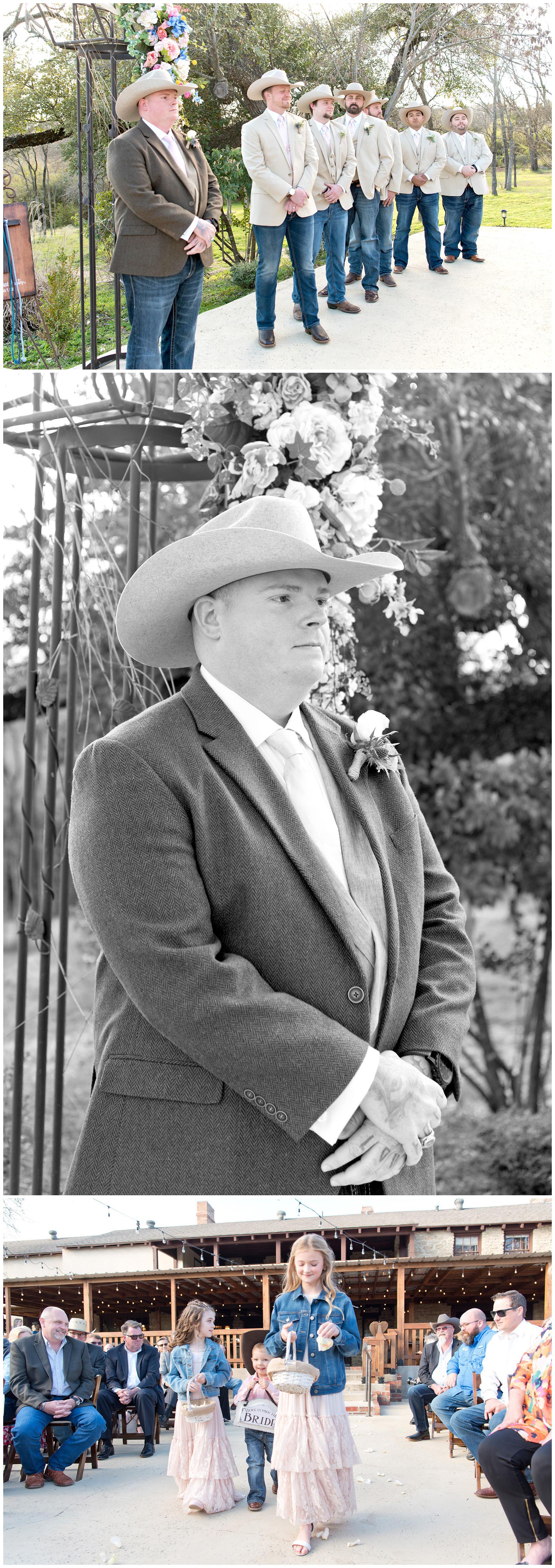 Outdoor Spring Wedding at the Hidden Gardens Venue Fort Worth Texas