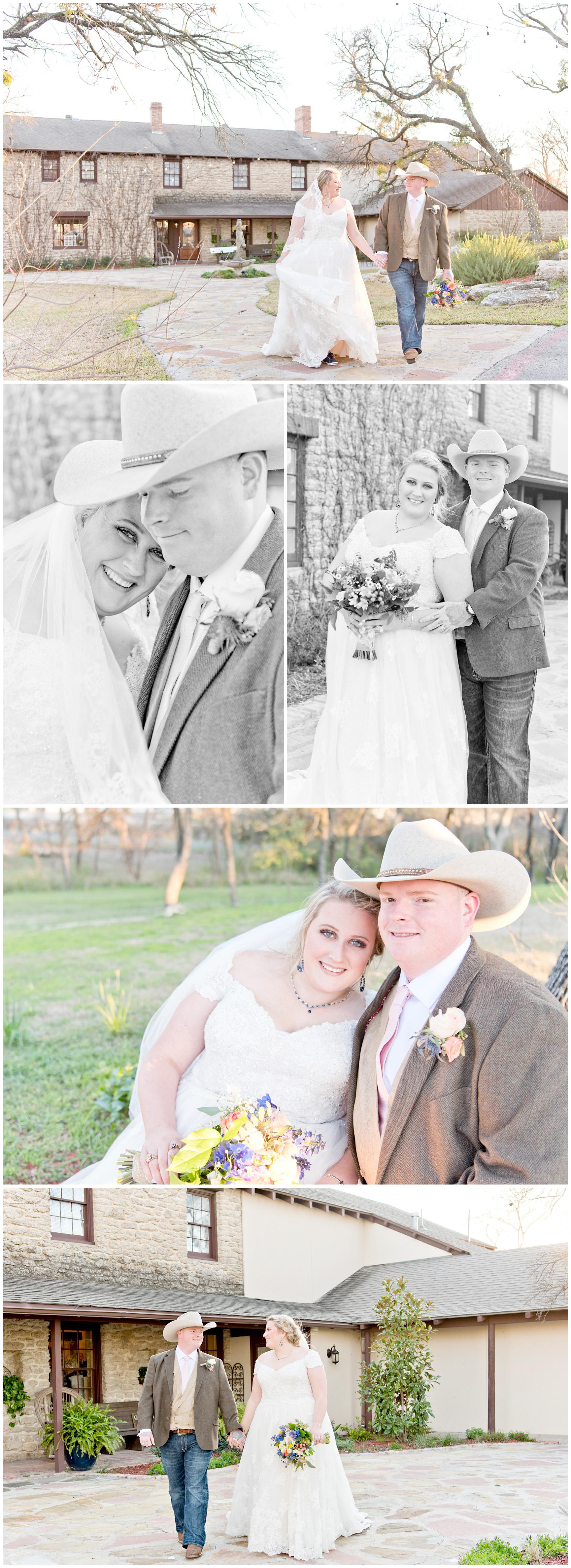 Bride and Groom Portraits Spring Wedding