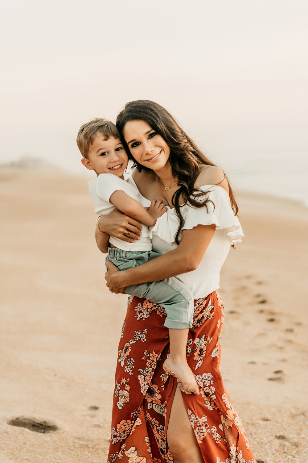 mother and son beach portrait, motherhood portrait session, Ryaphotos